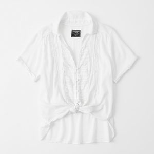 Abercrombie & Fitch Tops - NWT Abercrombie & Fitch Short-Sleeve Tie-Front Top